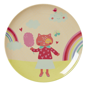 Happy Camper Girls Plate