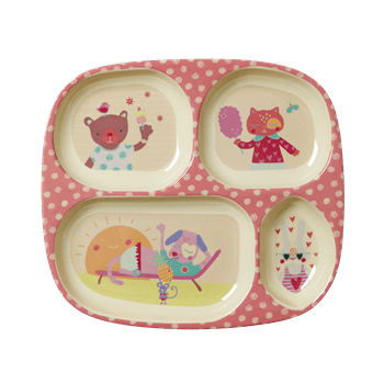 Happy Camper Girls 4 Room Plate