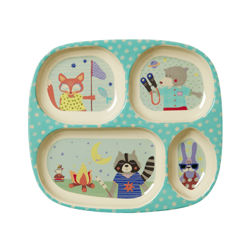 Happy Camper Boys 4 Room Plate