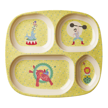 Kids 4 Room Melamine Plate with Boy Circus Print