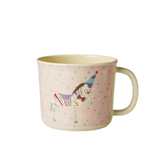 Baby Melamine Cup with Girl Circus Print