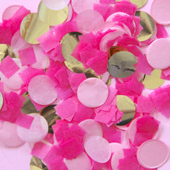 Flamingo Pink Party Confetti Mix