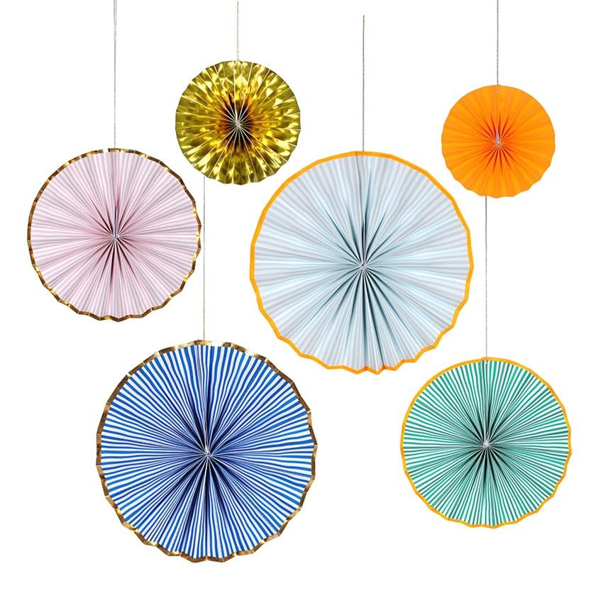 6 Pinwheel Decorations