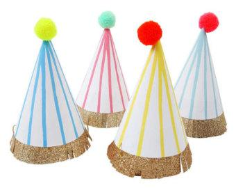 Mini Striped Party Hats