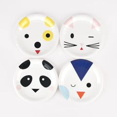 My Little Day Animal Faces Plate
