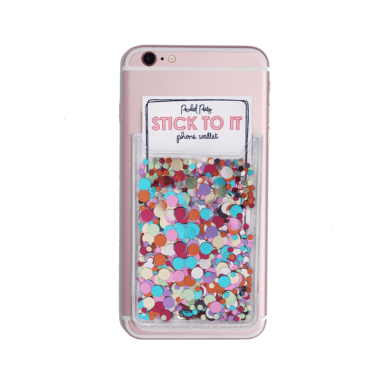 Confetti phone wallet