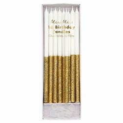 Long Glitter Dipped Candles