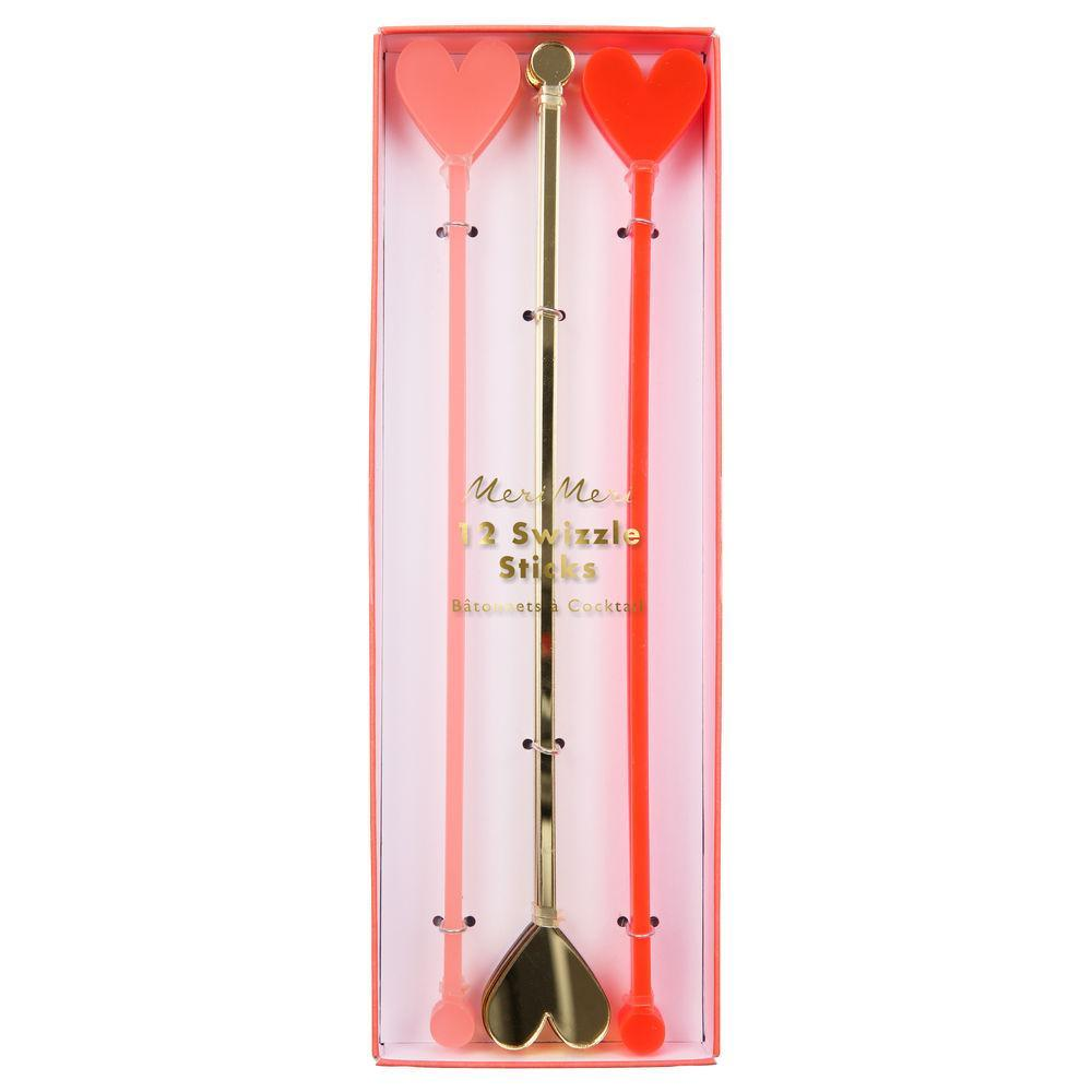 Heart Swizzle Sticks