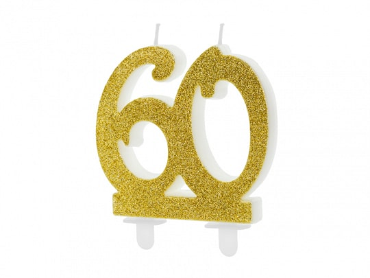 60 Gold Birthday Candle