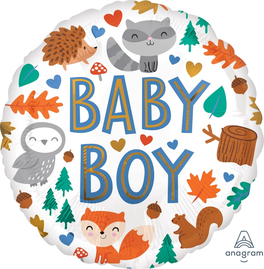 Baby Boy Woodland Fun Balloon