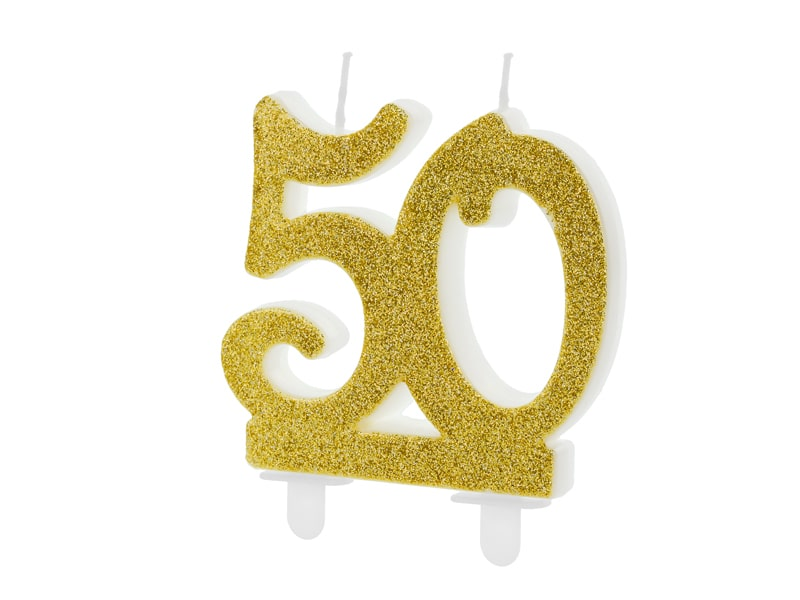 50 Gold Birthday Candle