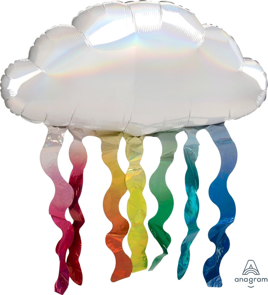 Iridescent Cloud with Streamers Balloon