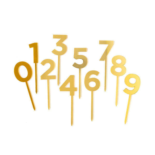 Gold Acrylic Numbers