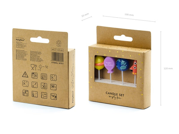 Birthday Space Candle Set