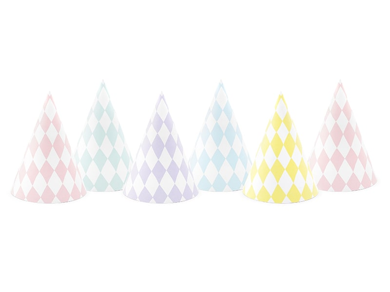 Multicolor Diamond Plaid Party Hats