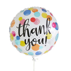 Thank you! Colored Polka Dots Balloon