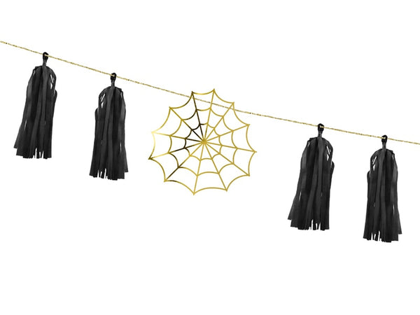 Spiderweb and Tassel Garland