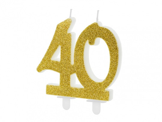 40 Gold Birthday Candle