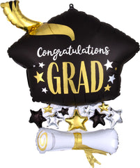 Satin Infused Cap & Diploma Balloon