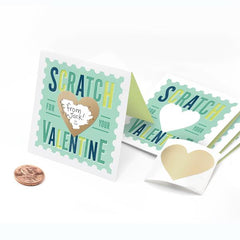 Scratch-Off Stamp Valentines