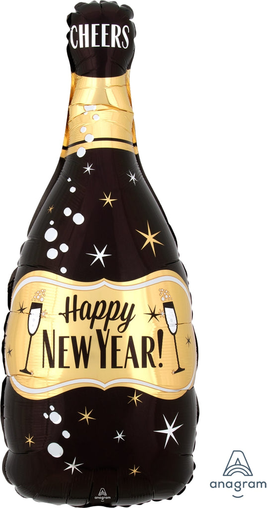 New Year Bubbly Bottle Foil Balloon
