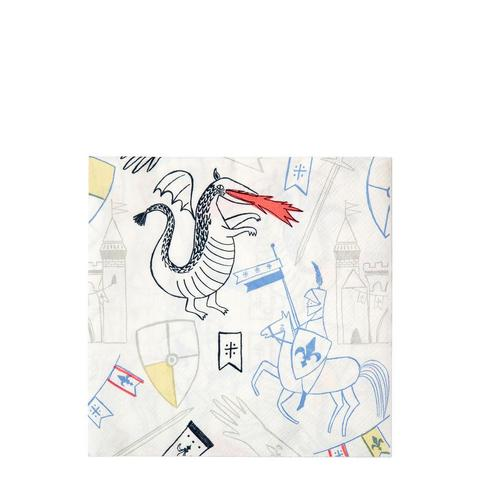 Dragon Knights Large Napkin