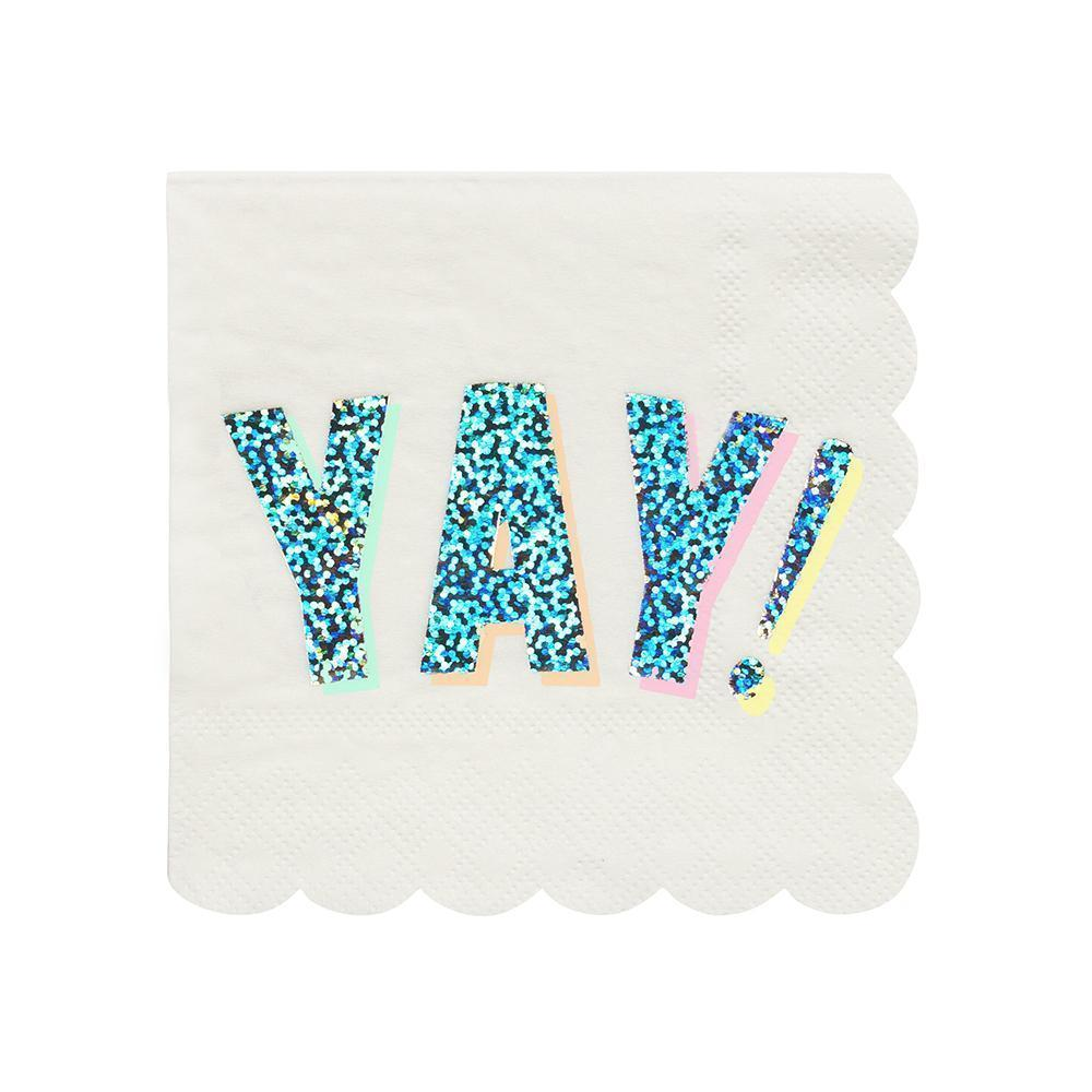 "Yay Party Napkin (5"")"