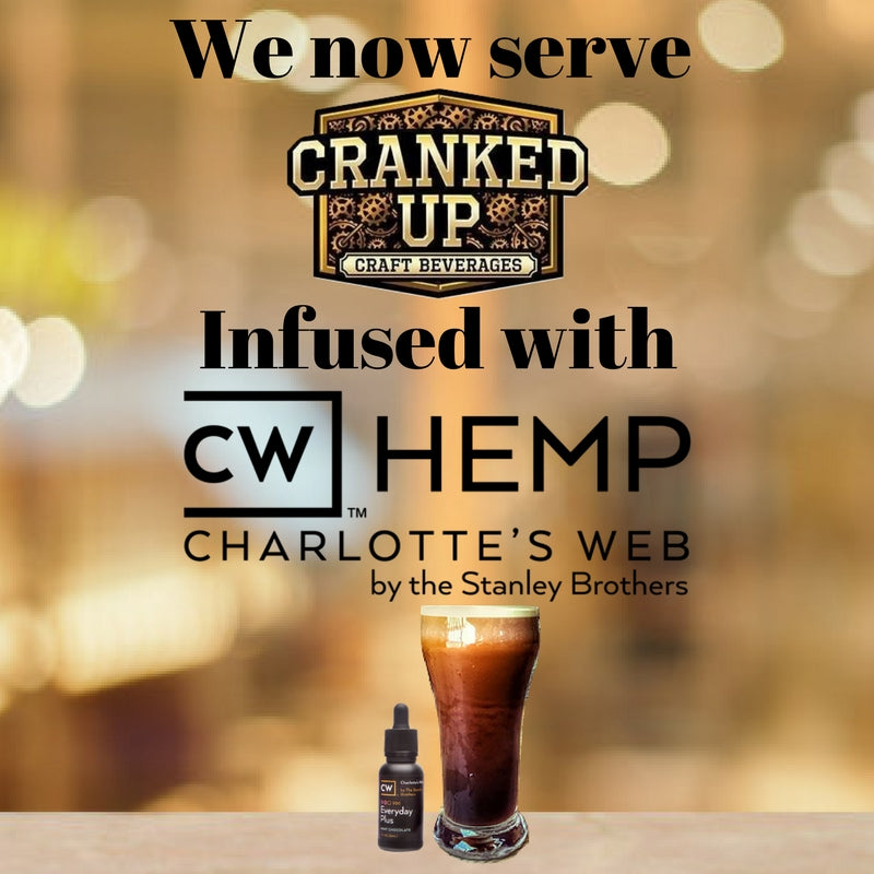 Cranked Up Coffee Infused with CBD Oil - Sold at Up'n Smoke!