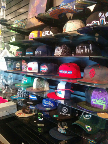 Hats at Fort Collins head shop Up N Smoke