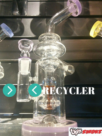 Recycler at the head shop Up N Smoke in Fort Collins, Colorado