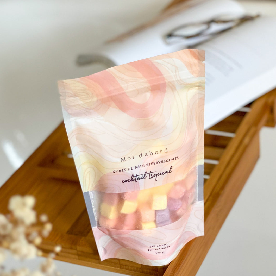 Cubes de bain effervescents -  Cocktail tropical