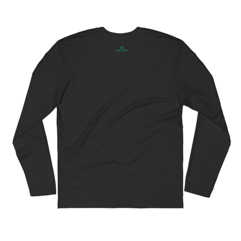 Black Long Sleeve Fitted Crew