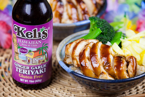 Hawaiian Teriyaki - Ginger Garlic Glaze on Chicken and Rice Bowl