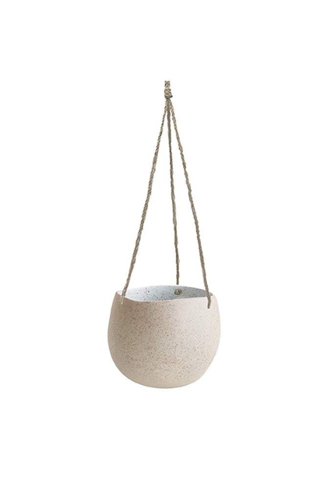 WHITE GARDEN TO TABLE - HANGING PLANTER LARGE