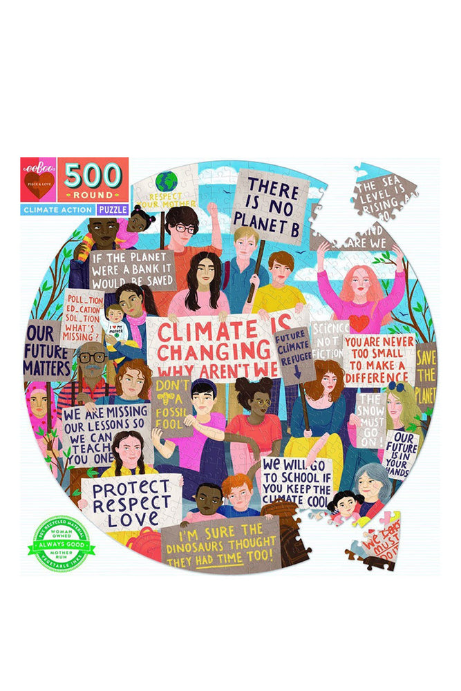 Eeboo 500 Round Climate Action Puzzle