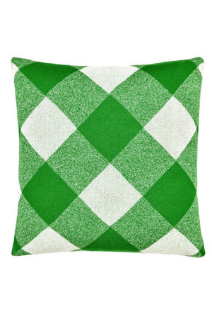 Load image into Gallery viewer, Castle + Things - Green Tartan Knit Cushion