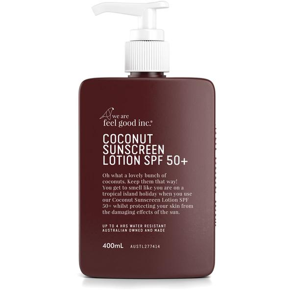 We Are Feel Good Inc Coconut Sunscreen SPF 50+ 400ml