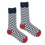 Navy and White Zig Zag