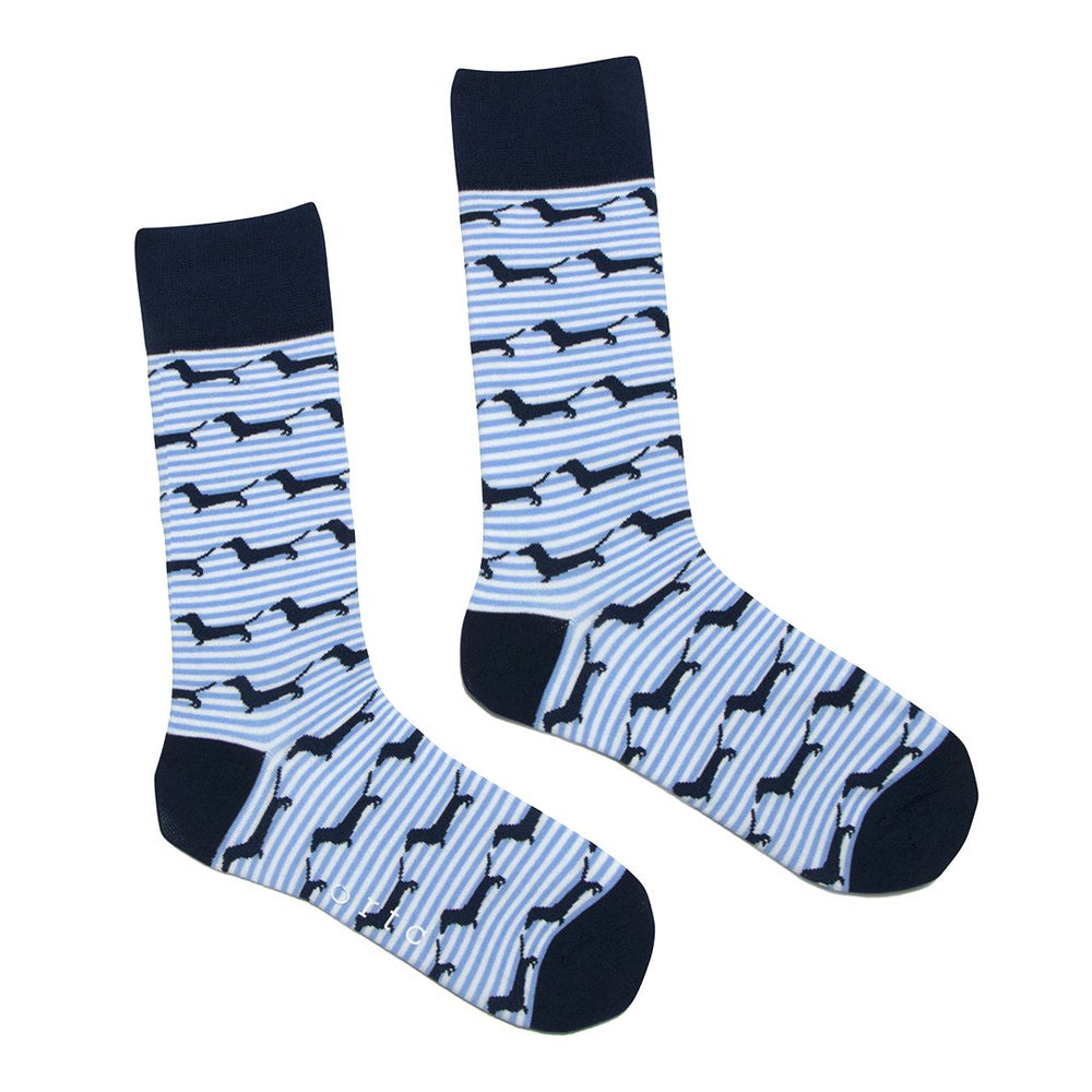 ORTC - Socks - Blue Stripe Dachies