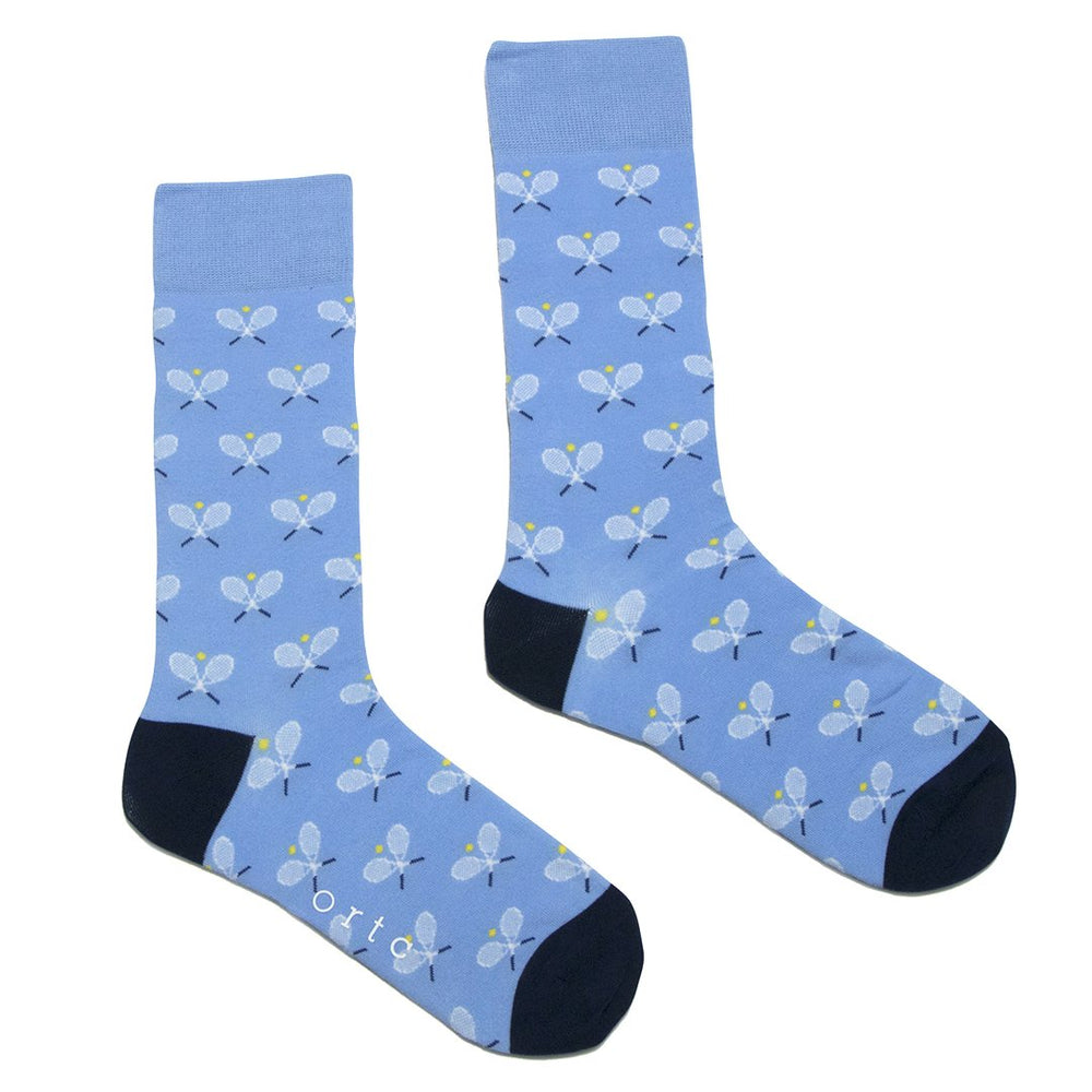 Pale Blue Tennis Racquet Socks