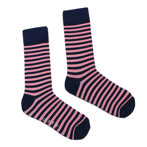 ORTC - Socks - Navy / Pink Stripe