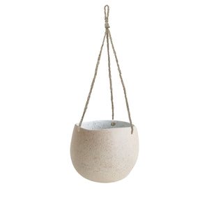 WHITE GARDEN TO TABLE - HANGING PLANTER SMALL