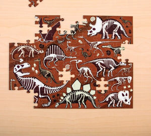 Double sided Dinosaur Dig Puzzle 100pc
