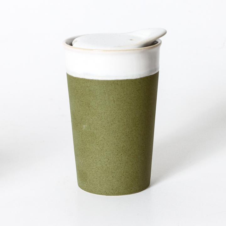 It's a Keeper Ceramic Cup Tall - Sprout Green