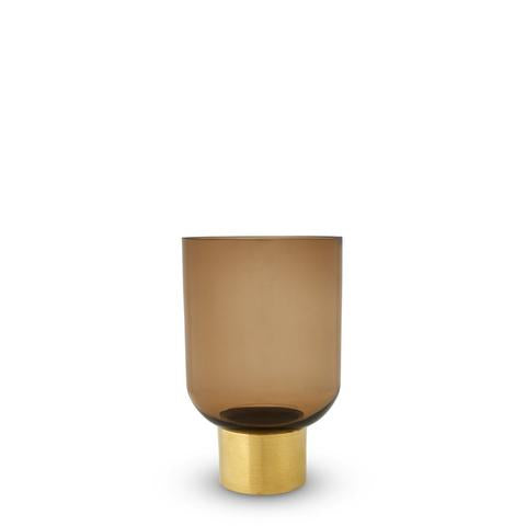 LUXOR GLASS VASE BUTTERSCOTCH SMALL