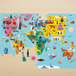 Mudpuppy 78 piece Map of the world