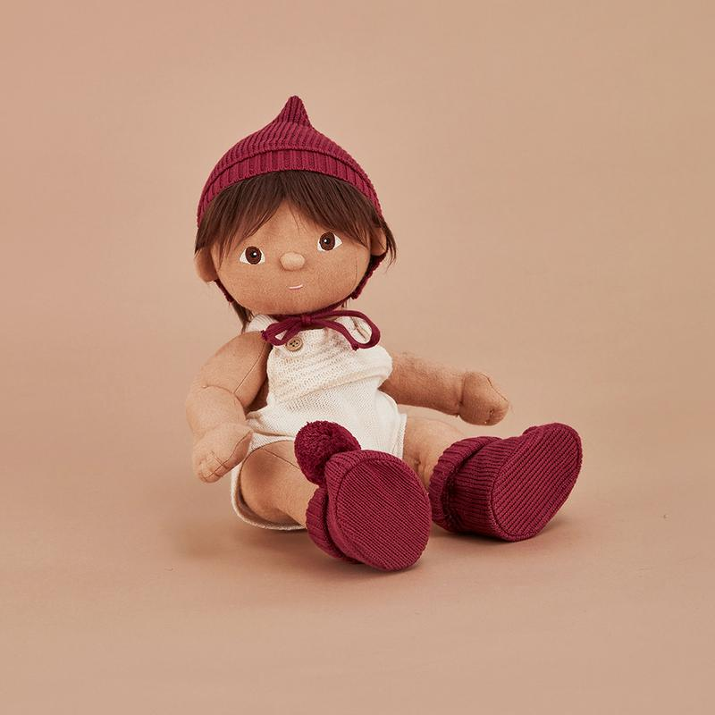 Load image into Gallery viewer, DINKUM DOLL SNUGGLY KNIT SET PLUM