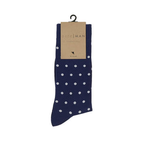 Navy and White Polka Socks