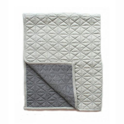 Load image into Gallery viewer, REVERSABLE QUILTED BLANKET GREY/FLINT