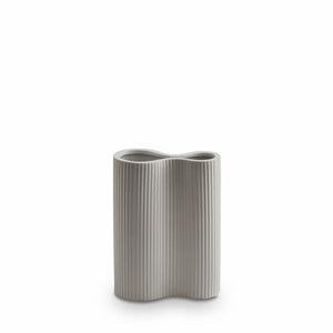 RIBBED INFINITY VASE LIGHT GREY